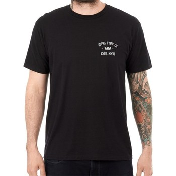 Textil Homem T-Shirt mangas curtas Supra  Preto