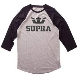 Textil Homem T-shirt mangas compridas Supra  Cinza