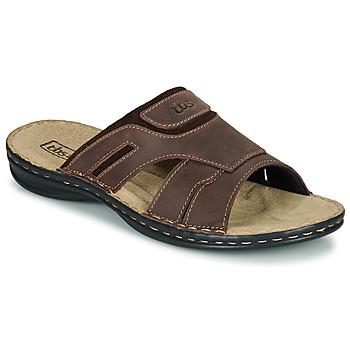 Sapatos Homem Chinelos TBS BELTONN Castanho