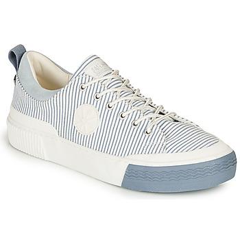 Sapatos Mulher Sapatilhas Palladium STUDIO 02 TXT Branco / Azul