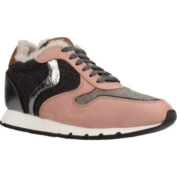Sapatos Mulher Sapatilhas Voile Blanche JULIA SLAM FUR NABUK Rosa