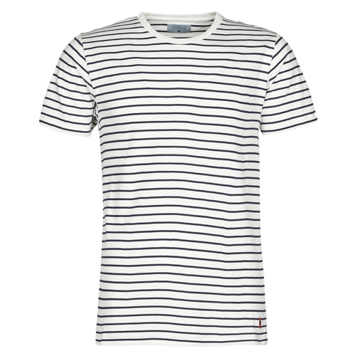 Textil Homem T-Shirt mangas curtas Casual Attitude KINO Marinho / Branco