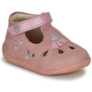 Sapatos Rapariga Sandálias Kickers BLUPINKY Rosa / Prata