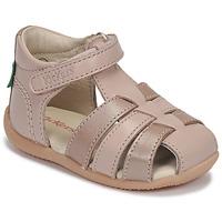 Sapatos Rapariga Sandálias Kickers BIGFLO-2 Rosa / Matal