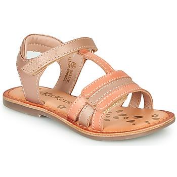 Sapatos Rapariga Sandálias Kickers DIAMANTO Rosa / Laranja