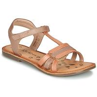 Sapatos Rapariga Sandálias Kickers DIAMANTO Laranja / Rosa