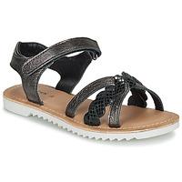 Sapatos Rapariga Sandálias Kickers SHARKKY Preto