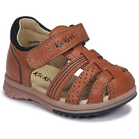 Sapatos Rapaz Sandálias Kickers PLATIBACK Camel