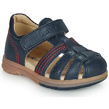 Sapatos Rapaz Sandálias Kickers PLATIBACK Marinho