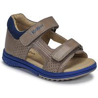 Sapatos Rapaz Sandálias Kickers PLAZABI Cinza / Azul