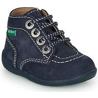 Sapatos Criança Botas baixas Kickers BONZIP-3 Marinho