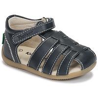 Sapatos Rapaz Sandálias Kickers BIGFLO-3 Marinho