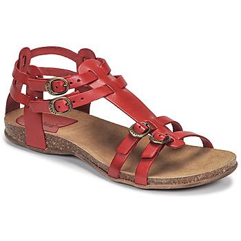Sapatos Mulher Sandálias Kickers ANA Vermelho