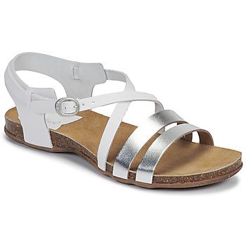Sapatos Mulher Sandálias Kickers ANATOMIUM Branco / Prateado