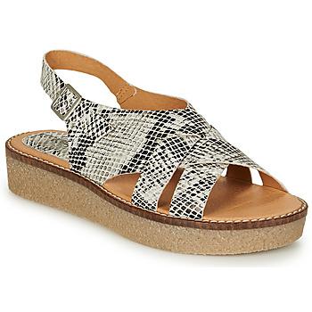 Sapatos Mulher Sandálias Kickers VICTORYNE Branco / Preto
