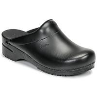Sapatos Homem Tamancos Sanita KARL OPEN Preto