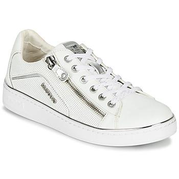 Sapatos Mulher Sapatilhas Mustang 1300-303-121 Branco / Prateado
