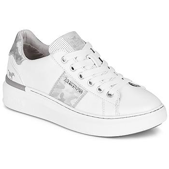 Sapatos Mulher Sapatilhas Mustang 1351304-121 Branco / Prateado