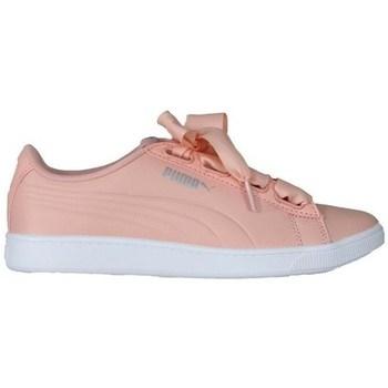 Sapatos Mulher Sapatilhas Puma Vikky V2 Ribbon Branco, Cor-de-rosa
