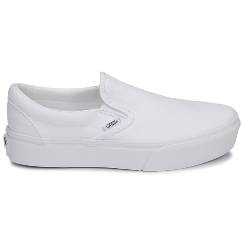 Vans CLASSIC SLIP-ON PLATFORM Branco - Entrega gratuita  - Sapatos Slip on Mulher 7700