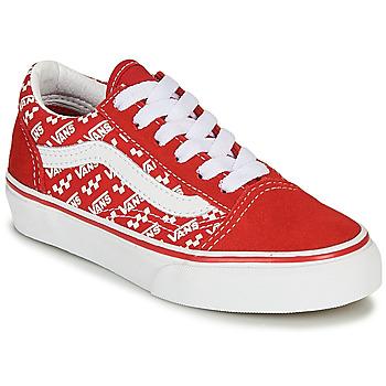 Sapatos Criança Sapatilhas Vans OLD SKOOL Vermelho / Branco