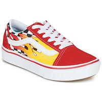 Sapatos Rapaz Sapatilhas Vans COMFYCUSH OLD SKOOL Vermelho / Amarelo