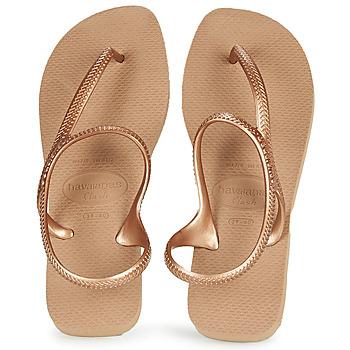 Sapatos Mulher Chinelos Havaianas FLASH URBAN Rosa / Ouro