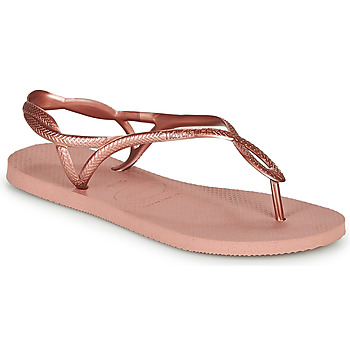 Sapatos Mulher Chinelos Havaianas LUNA Rosa / Ouro