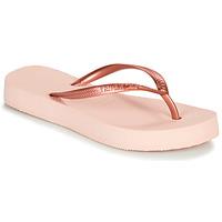 Sapatos Mulher Chinelos Havaianas SLIM FLATFORM Rosa