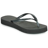 Sapatos Mulher Chinelos Havaianas SLIM FLATFORM Preto