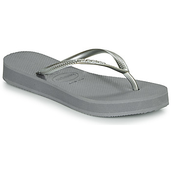 Sapatos Mulher Chinelos Havaianas SLIM FLATFORM Cinza