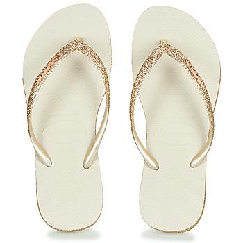 Sapatos Mulher Chinelos Havaianas SLIM SPARKLE Bege / Ouro