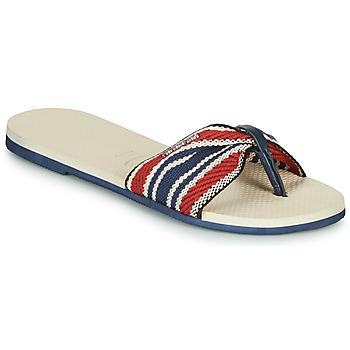 Sapatos Mulher Chinelos Havaianas YOU SAINT TROPEZ FITA Bege / Marinho / Vermelho