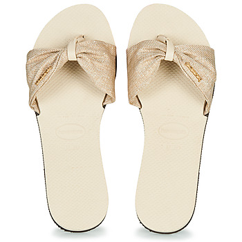 Sapatos Mulher Chinelos Havaianas YOU SAINT TROPEZ MATERIAL Bege