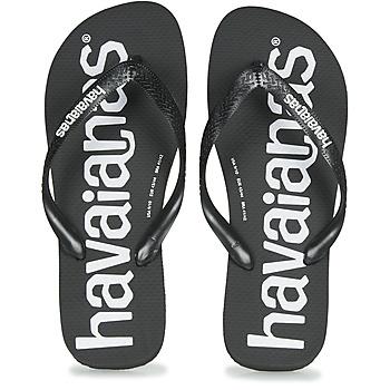 Sapatos Homem Chinelos Havaianas TOP LOGOMANIA Preto