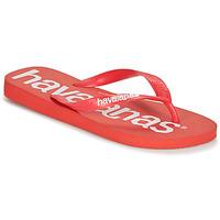 Sapatos Homem Chinelos Havaianas TOP LOGOMANIA Vermelho
