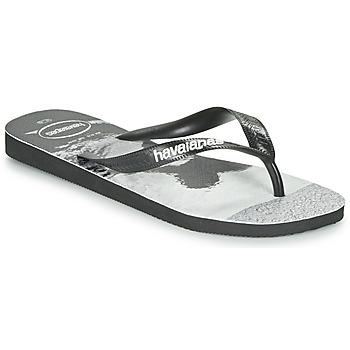 Sapatos Homem Chinelos Havaianas TOP PHOTOPRINT Preto / Branco
