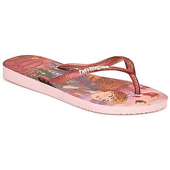 Sapatos Rapariga Chinelos Havaianas KIDS SLIM FROZEN Rosa