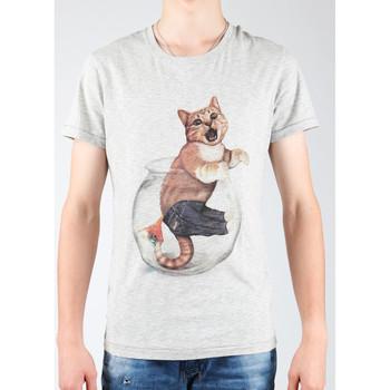 Textil Homem T-shirts e Pólos Wrangler Light Grey Mel W7940IS03 grey