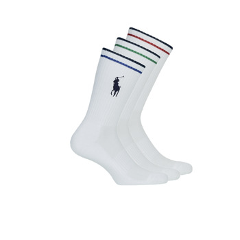 Acessórios Homem Meias Polo Ralph Lauren 3PK BPP-SOCKS-3 PACK Branco