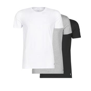 Textil Homem T-Shirt mangas curtas Polo Ralph Lauren WHITE/BLACK/ANDOVER HTHR pack de