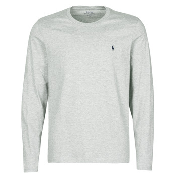 Textil Homem T-Shirt mangas curtas Polo Ralph Lauren L/S CREW-CREW-SLEEP TOP Cinza
