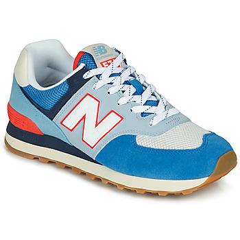 Sapatos Sapatilhas New Balance 574 Azul / Cinzento / Laranja