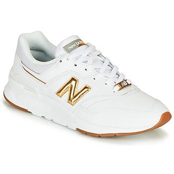 Sapatos Mulher Sapatilhas New Balance 997 Branco / Ouro