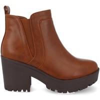 Sapatos Mulher Botas baixas Prisska Y5651 Camel