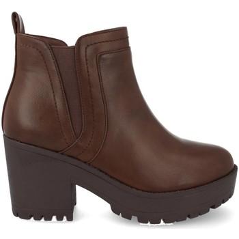 Sapatos Mulher Botas baixas Prisska Y5651 Marron