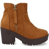 Sapatos Mulher Botas baixas Prisska Y5652 Camel