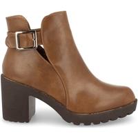 Sapatos Mulher Botas baixas Prisska YC8203 Taupe