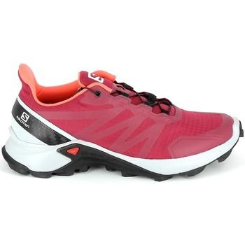 Sapatos Sapatos de caminhada Salomon Supercross Cerise Vermelho