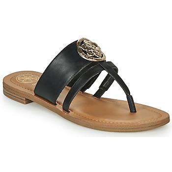 Sapatos Mulher Chinelos Guess GENERA Preto